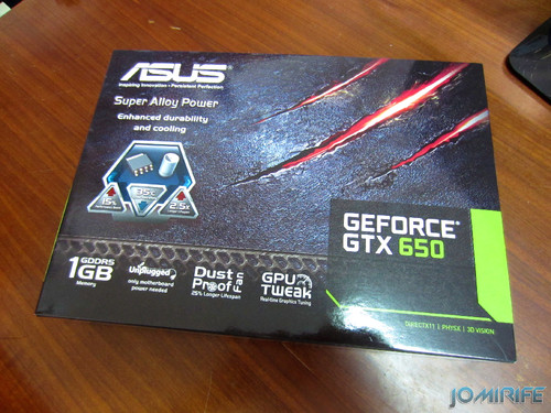 Placa gráfica Asus Geforce GTX 650 [en] Asus graphic card Geforce GTX 650 (caixa)