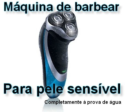 Máquina de barbear para pele sensível