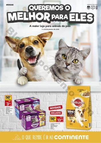 Especial Pets CONTINENTE Promoções de 7 a 28 jan