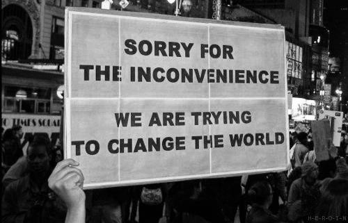 We are trying to change the world