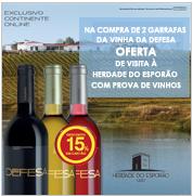 15% vinha da defesa + prova de vinhos, no Continente