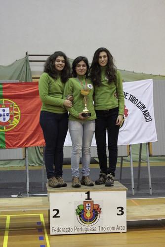 Inês, Olga e Filipa - Campeãs Nacionais Equipas Juniores Senhoras Rec