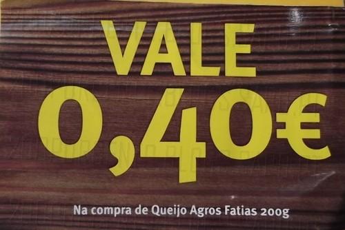 Vale 0,40€ em Queijo Agros 200g