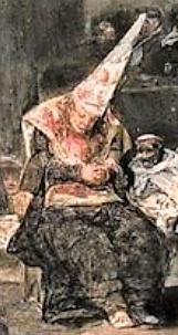 (inquisição)O tribunal da Inquisição, num óle