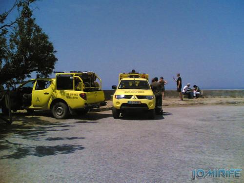 Sapadores florestais de prevenção na Serra da Boa Viagem (Bandeira) na Figueira da Foz [EN] Firefighters protecting the forest from fire in Serra da Boa Viagem in Figueira da Foz, Portugal