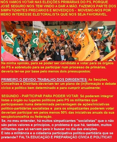 Eleições primárias no PS José Seguro e António Costa