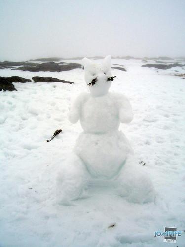 Serra da Estrela, Portugal - Boneco de neve Coelho