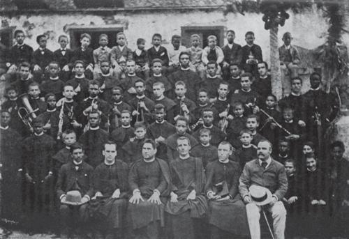 Prof. e Alunos do SLSN (1897) - Foto do Rev. A. P.