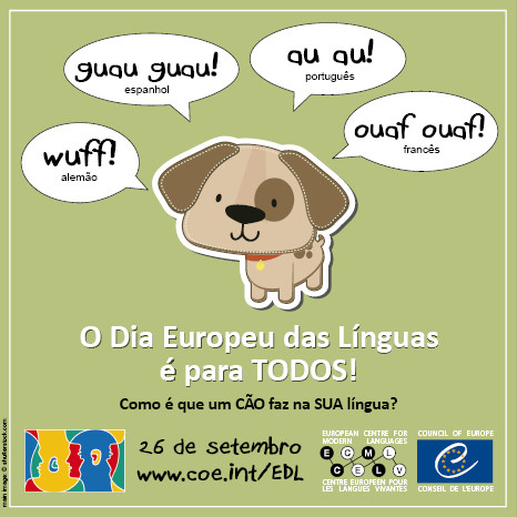 Resultado de imagem para Dia Europeu das Línguas