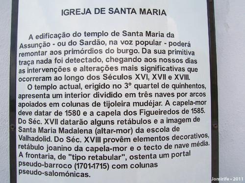 Castelo Bragança: Igreja de Santa Maria - Texto