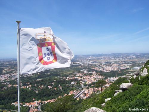 Sintra: Castelo dos Mouros - Bandeira e vista