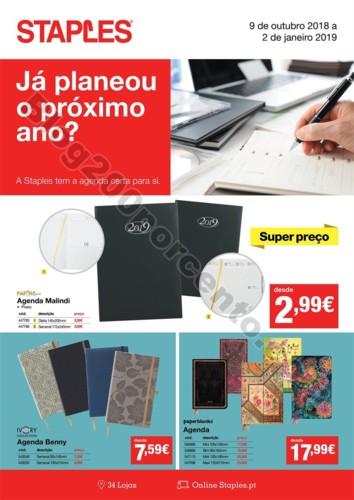 Antevisão Folheto STAPLES Agendas promoções de