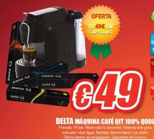 Máquina Café Cápsulas DeltaQ com Oferta do seu valor em Café