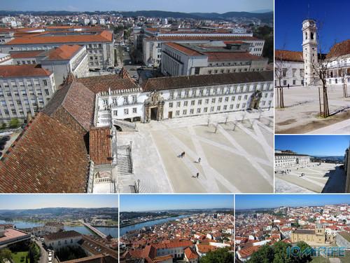 No topo da Torre da Universidade de Coimbra com uma vista magnífica de 360 graus sobre a cidade, é ponto mais alto de Coimbra [en] On top of the Tower of the University of Coimbra with magnificent 360 degree views over the city, is the highest point of Coimbra, Portugal