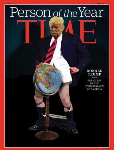 Donal Trump Spoof Cover  Times Person of the Year.