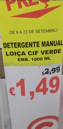 Detergente Manual Loiça CIF Verde 1000ml
