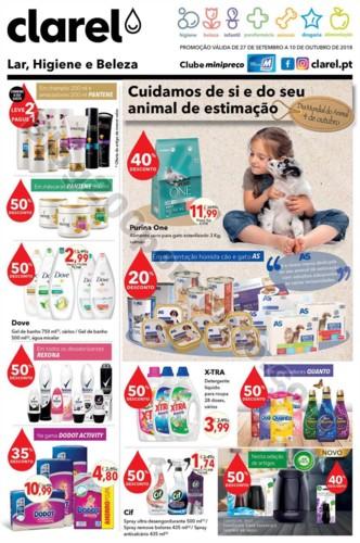 Antevisão Folheto CLAREL promoções de 27 setemb