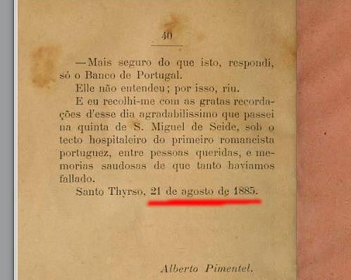 Uma visita ao primeiro excritor portuguez... (A.Pimentel, Porto, Lopes & C.ª, 1885)