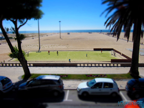 Da esplanada ao campo sintético da praia na Figueira da Foz [en] From the terrace to the synthetic soccer field of Figueira da Foz