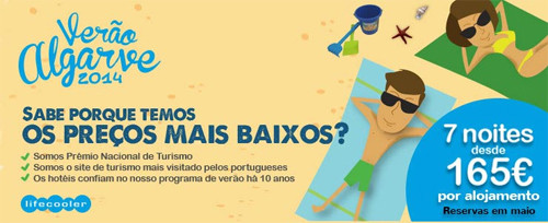 Promoção de férias baratas no Algarve em Agosto, Julho, Setembro - época Alta