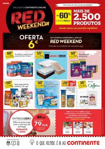Antevisão Folheto CONTINENTE Red Weekend 22 a 24