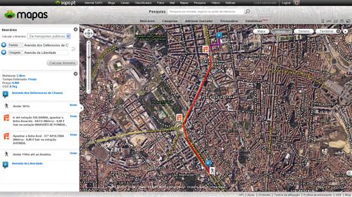 Itinerários - SAPO Mapas