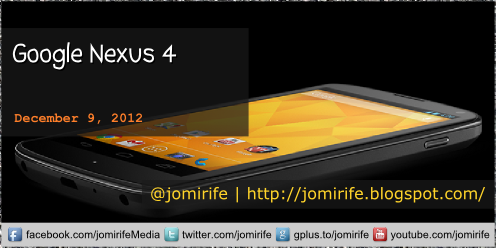 Blog post: Google Nexus 4 (tech specifications)