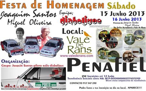 Cartaz da homenagem a Joaquim Santos...