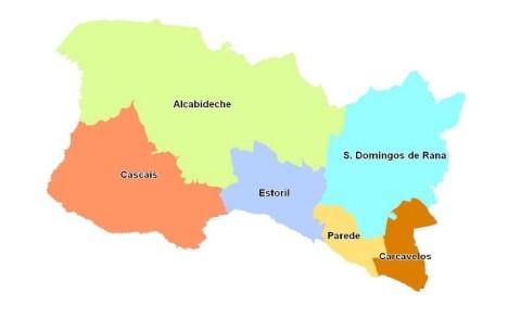 mapa parede cascais Os últimos dias das freguesias do Estoril e da Parede   Movimento  mapa parede cascais