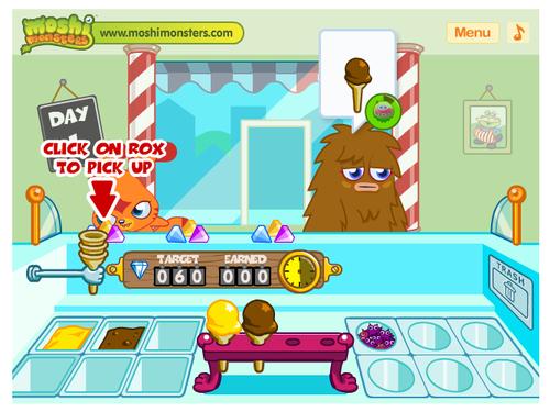 Jogos De Cozinhar Online Moshi Monsters Gelados Brinquedos De Papel