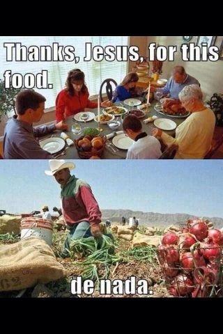 Obrigado Jesus por estes alimentos