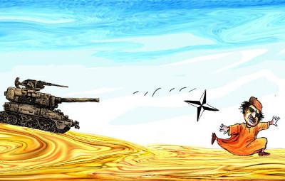 Kadafi, Líbia, Nato