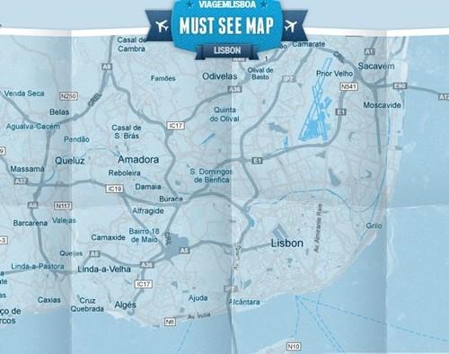 Mapa de uma cidade grátis oferecido pela KLM