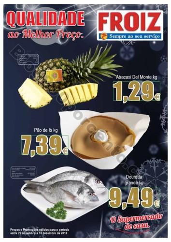 Antevisão Folheto FROIZ Natal promoções de 29 n