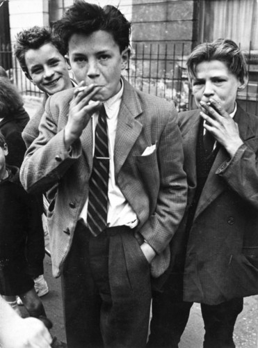 Boys Smoking, Portland Road, North Kensington, 195