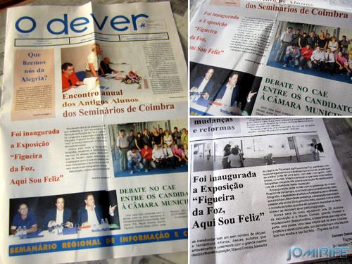 Notícia sobre a Exposição coletiva de Fotografia «Figueira da Foz, aqui sou feliz» no jornal «O Dever»
