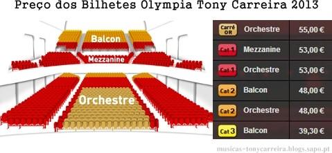 Preço dos bilhetes para espetaculo de Toni Carreira no Olympia 2013