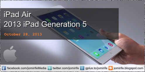 Blog Post: iPad Air (2013 iPad Generation 5) tech specifications