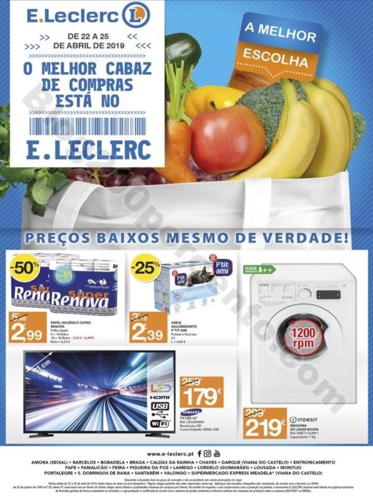 Antevisão Folheto E-LECLERC Promoções de 22 a 2