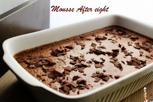 Mousse de chocolate after eight
