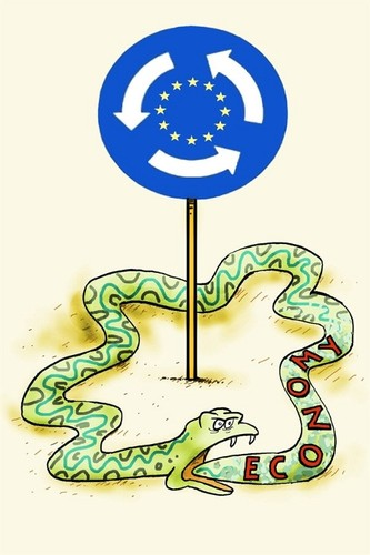 Europa, cartoon, economia,