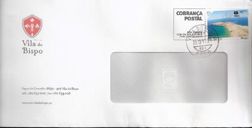 carta com selo personalizado de Vila do Bispo