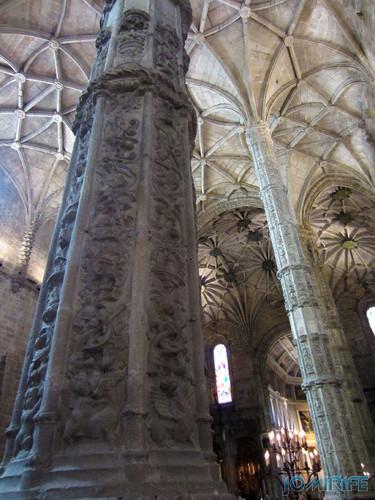 Lisboa - Igreja Mosteiro dos Jerónimos (4) Pilares [en] Lisbon - Jeronimos Monastery Church - Pillars