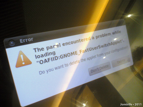 Leiria Shopping - Painel informativo erro (Ubuntu)