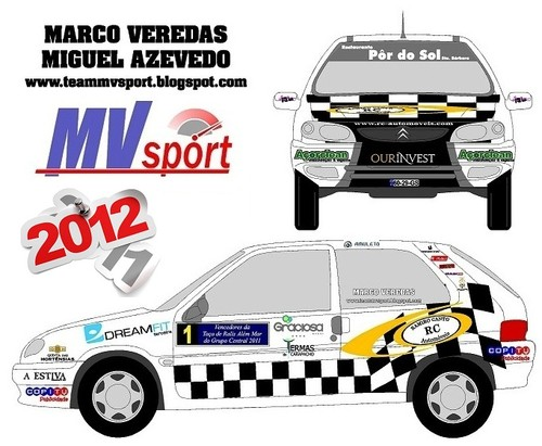 As novas cores do Citroen Saxo Cup do Team MV Sport