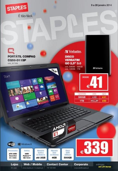 Novo folheto | STAPLES | de 9 a 28 janeiro