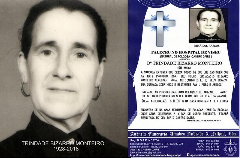 FOTO RIP  DE TRINDADE BIZARRO MONTEIRO-90 ANOS (FO