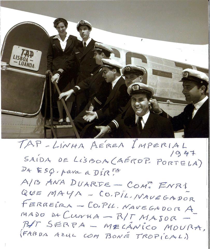 Linha imperial da TAP, aeroporto da Portela (Carneiro, 1947)
