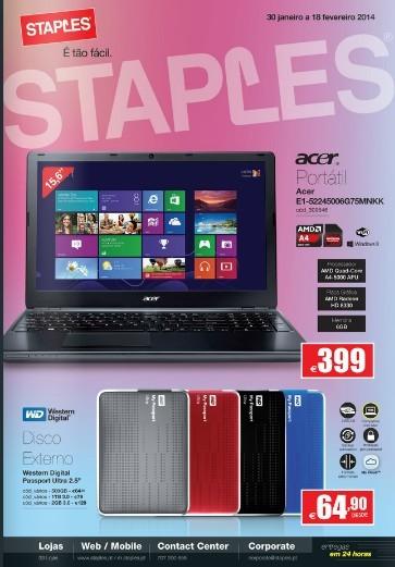 Novo Folheto | STAPLES | de 30 janeiro a 18 fevereiro
