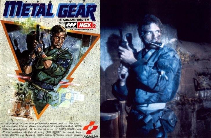 Capa de Metal Gear e Michael Biehn em Terminator